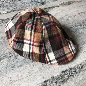 Plaid Newsboy Hat / Cap